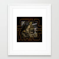 starwars Framed Art Prints featuring STARWARS by zinakorotkova
