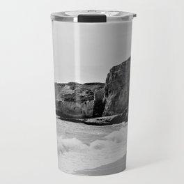 Bedrock Seascape Grayscale #10 Travel Mug