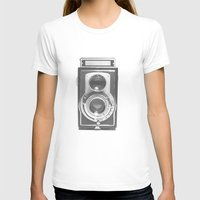 vintage camera T-shirts featuring Vintage Camera by Ewan Arnolda