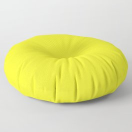 The Future Is Bright Yellow - Solid Color - Sunshine Floor Pillow
