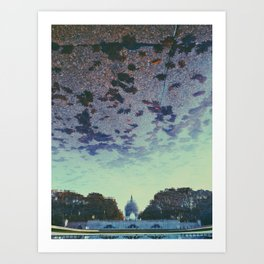 Reflecting On the Capital Art Print