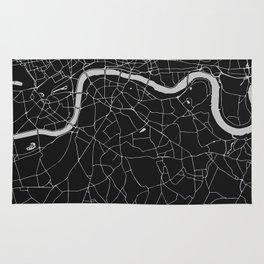 London Black on Gray Street Map Rug