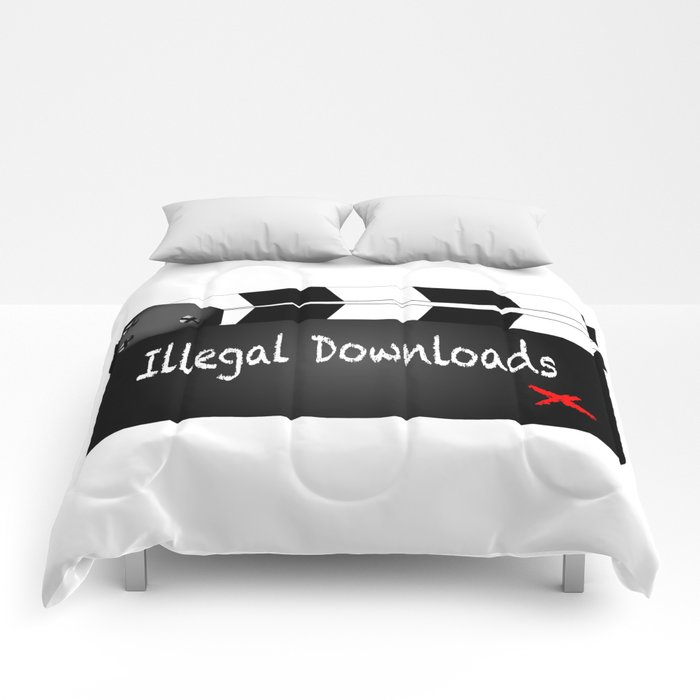 Illegal Downloads Clapperboard Comforters