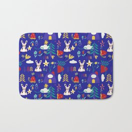 Tortoise and the Hare is one of Aesop Fables blue Bath Mat