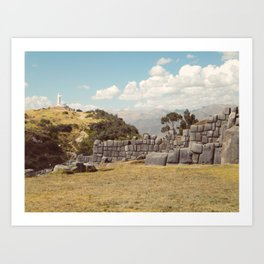 Cristo Blanco, Cusco Art Print