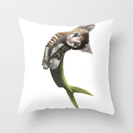 Purmaid of the sea Throw Pillow