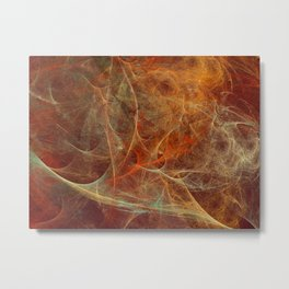 Abstract texture in autumn tones Metal Print