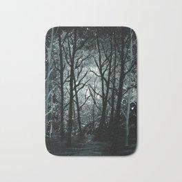 Cold Night Forest Bath Mat