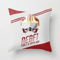 rebel Throw Pillows featuring Rebel by Tony Vazquez