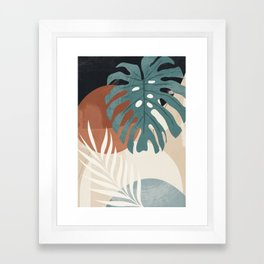 Abstract Art Tropical Leaves  Framed Art Print