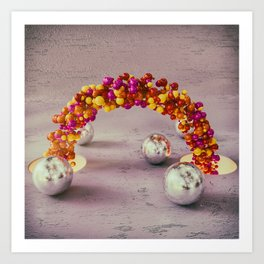 Ribbon of balls Art Print