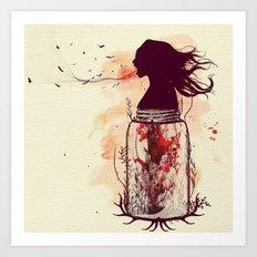 the scream jar Art Print