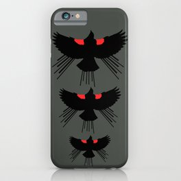 Seasons K Designs Red Winged Blackbird for Salty Raven iPhone Case