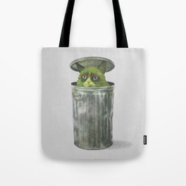 Grouchy Cat  Tote Bag