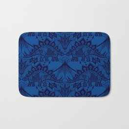 Stegosaurus Lace - Blue Bath Mat