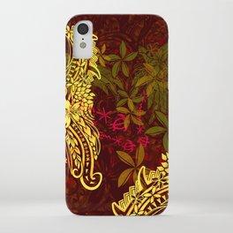 Polynesian - Hawaiian Kona Lava Abstract Tribal Threads iPhone Case