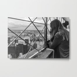 Thinking Metal Print