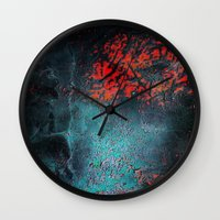 nightmare Wall Clocks featuring Nightmare by Tayler Smith