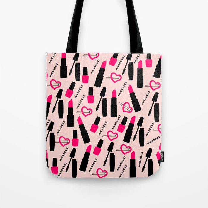 Cute Makeup Tote Bag By Kapotka Society6