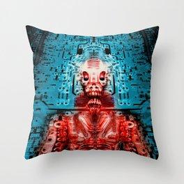 Sir Circuity's sartorial cybernetics Throw Pillow
