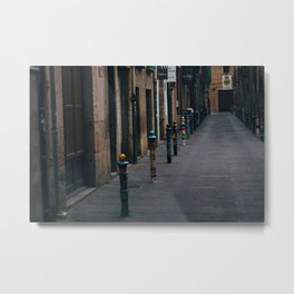 Coloured Streets Metal Print