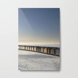 Muizenberg Beach Huts Metal Print