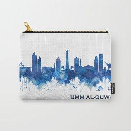 Umm al-Quwain UAE Skyline Blue Carry-All Pouch