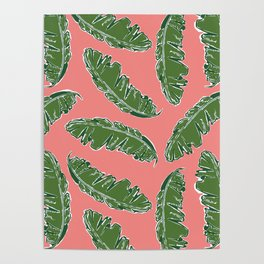 Nouveau Banana Leaf in Lox Poster