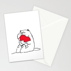 Persian Cat Heart Stationery Cards
