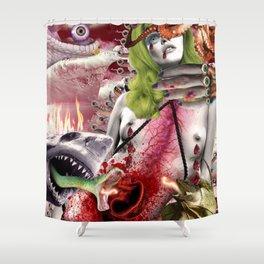 Lizard Queen Empire Shower Curtain