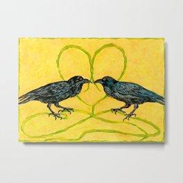 Two Black Crows Romance Metal Print