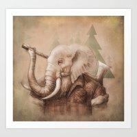 Lumberphant Art Print