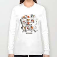 japanese Long Sleeve T-shirts featuring Japanese building by Natsuki Otani