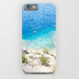 Swimming in the Cove iPhone Case