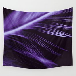 Purple Ultraviolet Feather close up Wall Tapestry