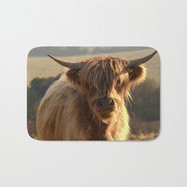 Young Highland Cow Bath Mat