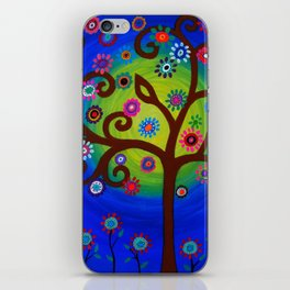 Whimsical Tree of Life Summer Dreams Painting iPhone Skin