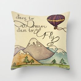 Dare to Fly Throw Pillow