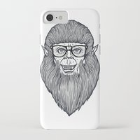 teen wolf iPhone & iPod Cases featuring Nerdy Teen Wolf by Peter Kramar