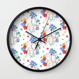 STRUT Pattern Wall Clock