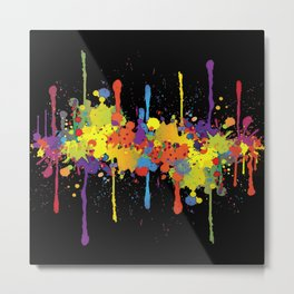 Crazy Multicolored Double Running Splashes 2 Metal Print