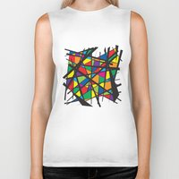 stained glass Biker Tanks featuring Stained Glass by preview