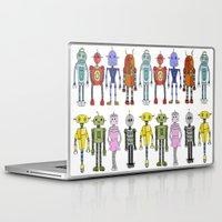 robots Laptop & iPad Skins featuring Robots by Annabelle Scott