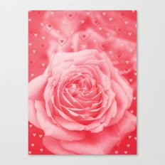 Valentine Rain Canvas Print