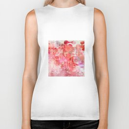 Modern contemporary pastel Blush and Peaches Abstract Biker Tank
