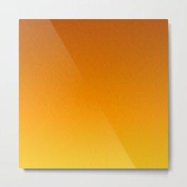 Honey Brown Orange Yellow Ombre Flames Metal Print