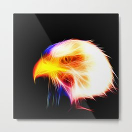 bald eagle 03 neon lines bright Metal Print