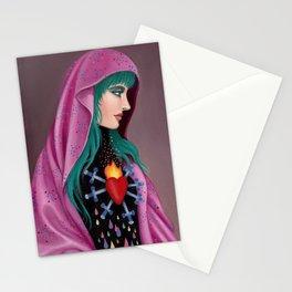 Stabby Rainbow Heart Stationery Cards