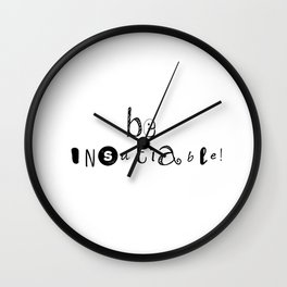 insatiable! Wall Clock