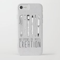 Weapons Of Mass Creation (on grey) iPhone 8 Slim Case